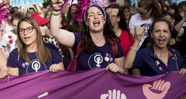 Half miljoen betogers op Zwitserse 'vrouwenstaking'. Krachtige solidariteit en strijd!
