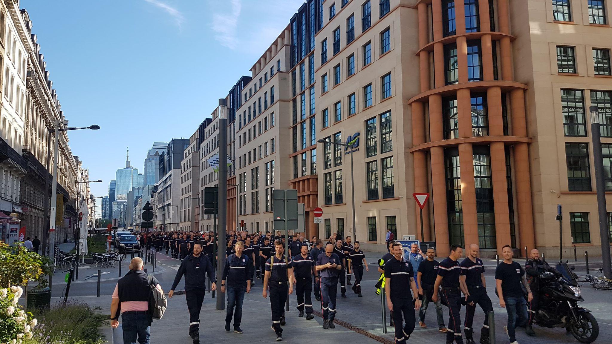 Brusselse brandweerlieden voeren actie tegen aanval op hun premies