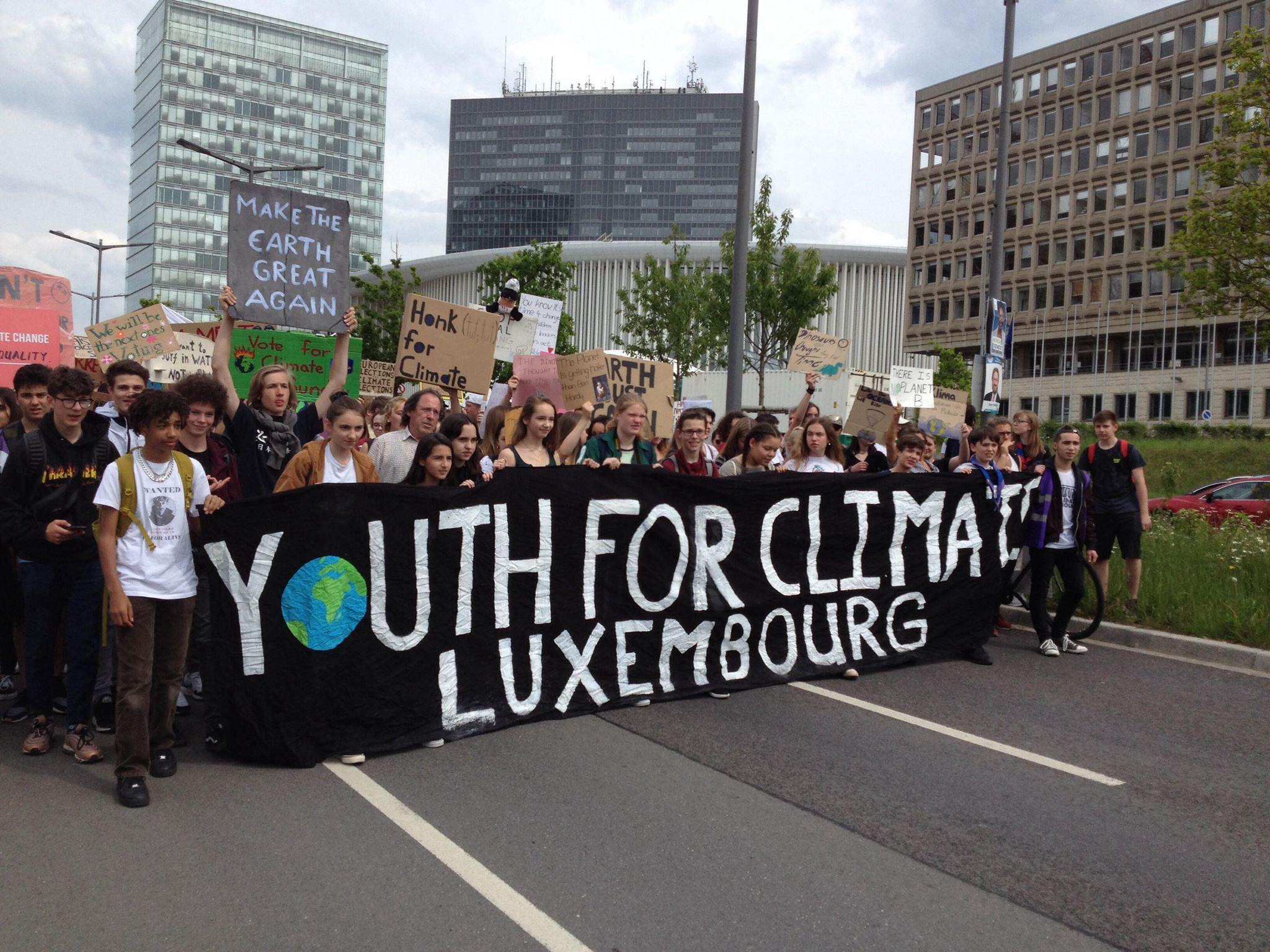 Luxemburg: jongeren rebelleren rond klimaat