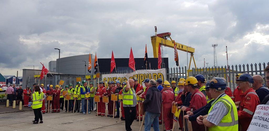 Scheepswerf Harland & Wolff in Belfast bezet. Nationaliseren om jobs en vaardigheden te redden!