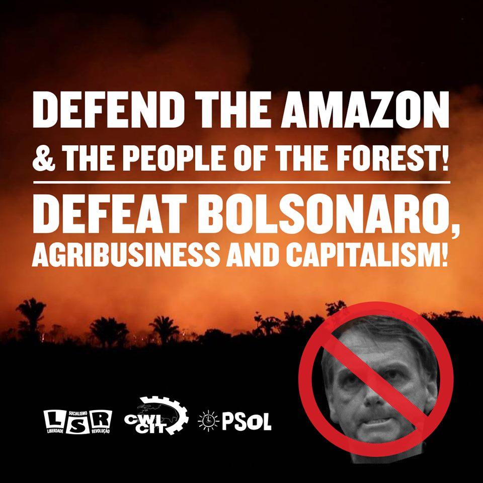 Wereldwijd protest tegen branden in Amazone