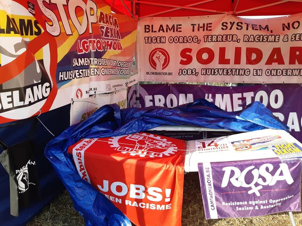 Extreemrechts vandaliseert infostand van Blokbuster. Geweld beantwoorden met mobilisatie!