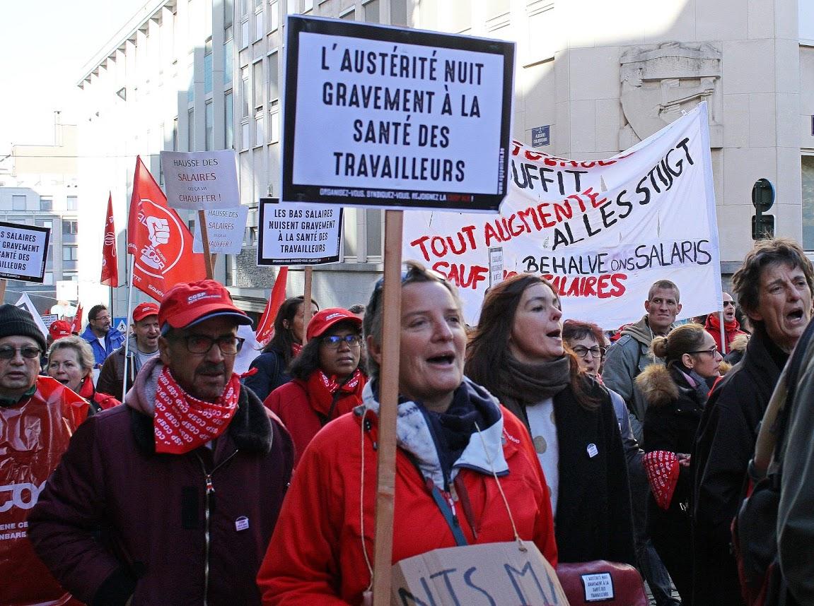 Brussel: de strijd van de lokale ambtenaren gaat versnelling hoger!