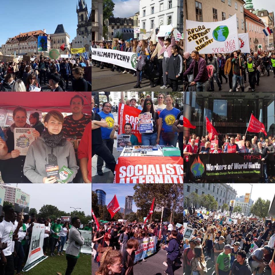 Linkse socialisten wereldwijd tussengekomen in klimaatacties