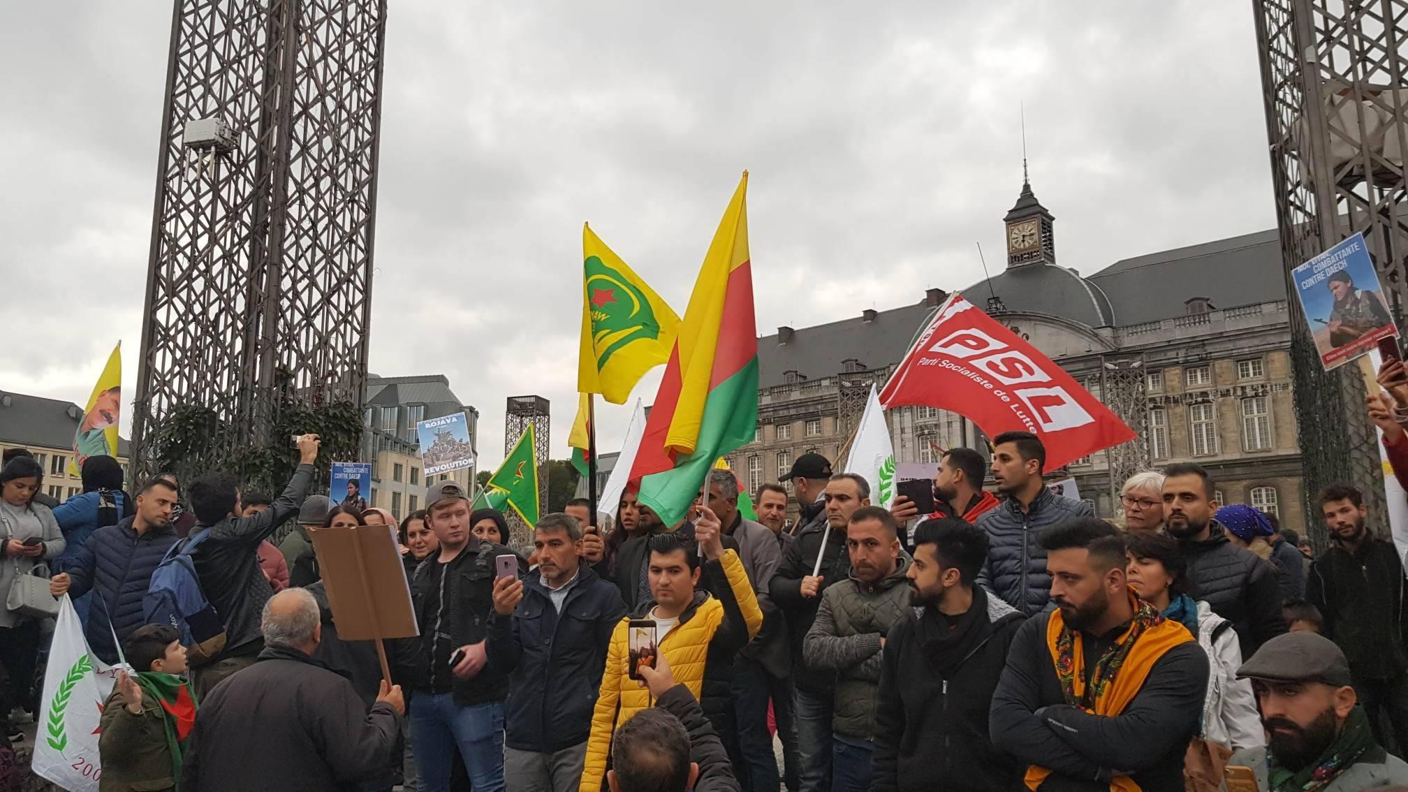 Brussel en Luik: protestacties tegen de Turkse invasie in Rojava
