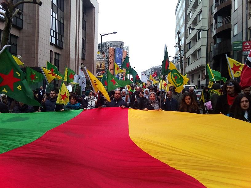 Brusselse betoging tegen invasie in Rojava: bouwen aan een sterke anti-oorlogsbeweging!