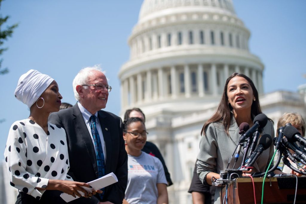 Bernie Sanders krijgt steun van Ocasio-Cortez en 'The Squad'