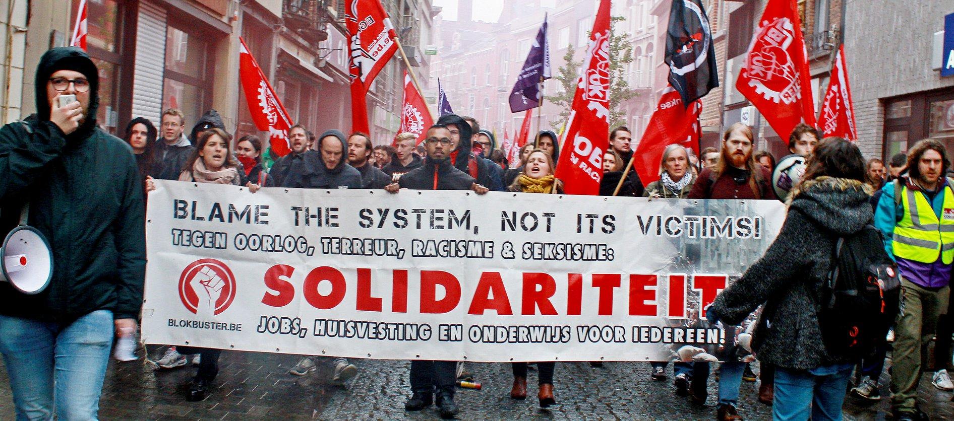 Protest tegen meeting Van Langenhove aan Antwerpse universiteit