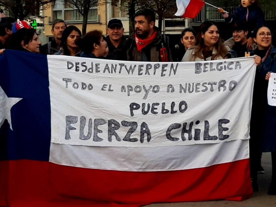 Solidariteitsacties met het Chileense protest