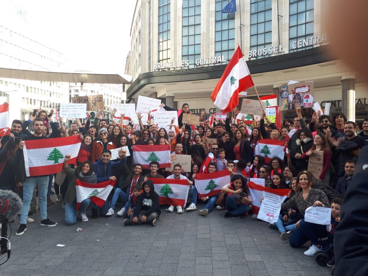 Solidariteitsactie met de massale opstand in Libanon