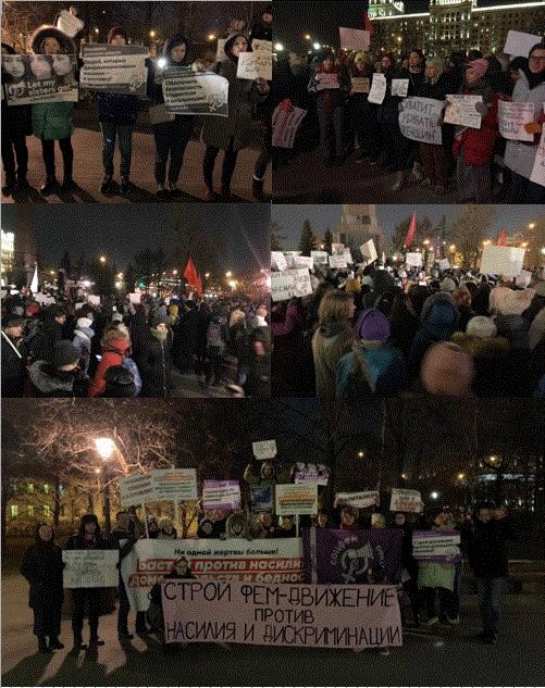 Grote actie tegen geweld op vrouwen in Moskou