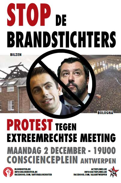 Syndicalisten: protesteer mee tegen extreemrechts!