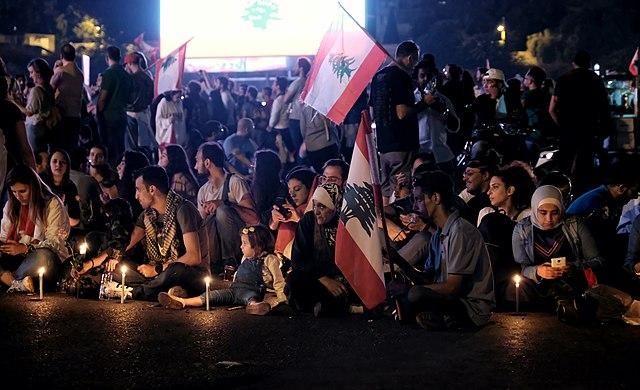 Libanon in opstand: massa's komen verenigd op straat
