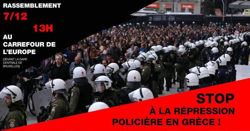 Actie tegen politiegeweld in Griekenland