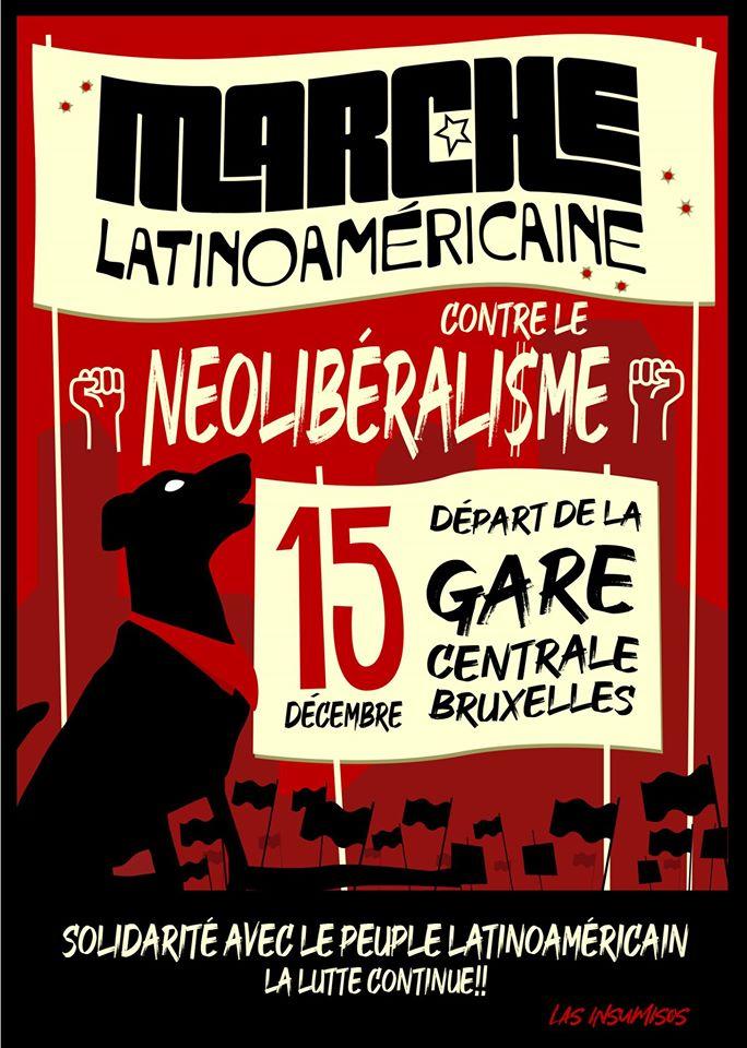 Latijns-Amerikaanse mars tegen het neoliberalisme gepland in Brussel