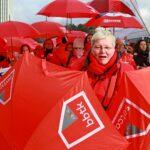 Grote betoging voor sociale zekerheid