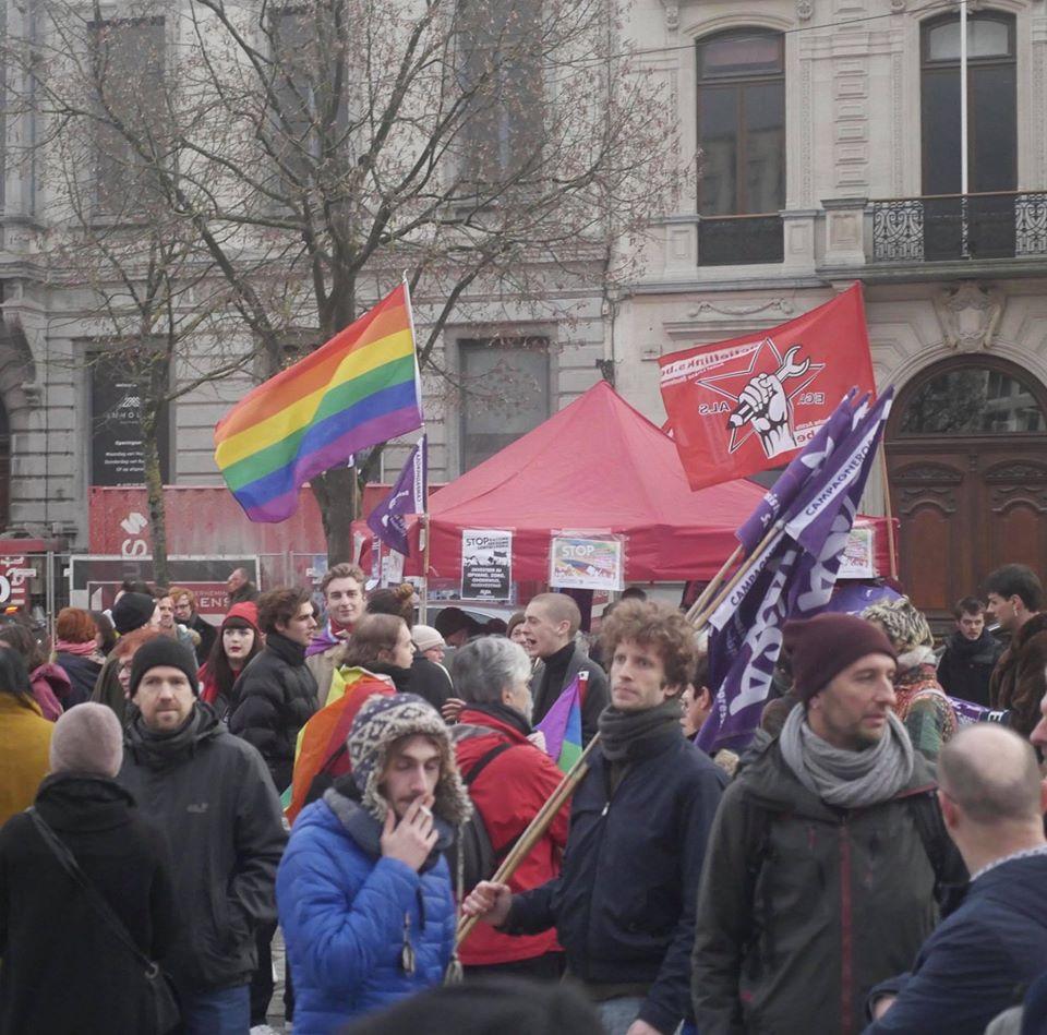 Goed bijgewoond protest na homofoob geweld in Gent