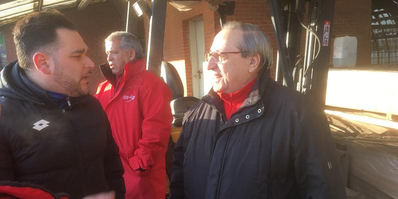 Interview met Silvio Marra. Arbeiders Forges de Clabecq eisen betaling van achterstallige lonen