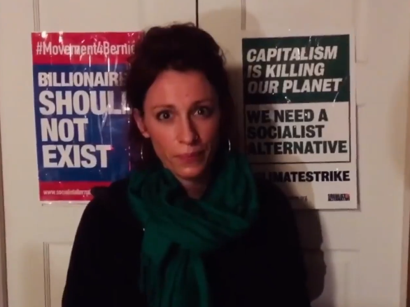 Video. Bernie president? Sprekerstour met Ginger Jentzen van Socialist Alternative