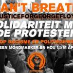 #JusticeforGeorgeFloyd. Solidariteitsactie in Gent op 1 juni